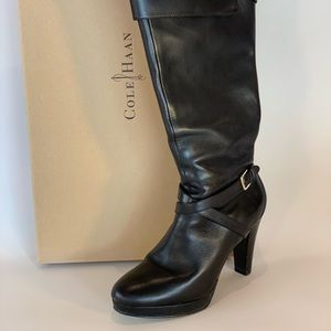 Cole Haan size 8.5 black boots